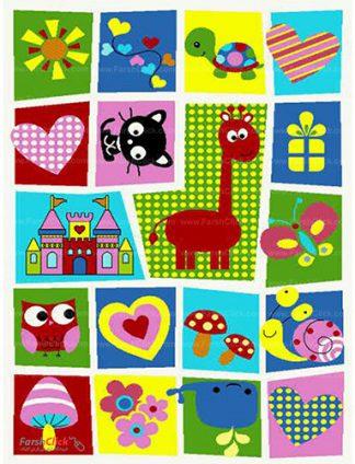 فرش کودک فرش ساوین -  رویای کودکانه - 12 متری  چند رنگ