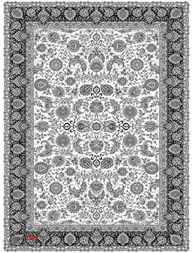 فرش مدرن فانتزی فرش ساوین -  1315 - 1/5 متری  چند رنگ