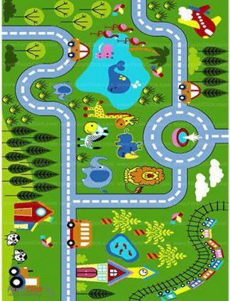 فرش کودک فرش ساوین -  پارک - 9 متری  چند رنگ