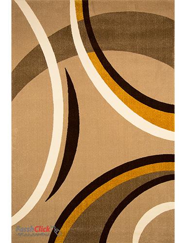 فرش مدرن فانتزی فرش ساوین -  پرهام - 6 متری  شکلاتی