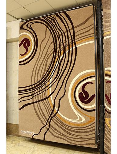 فرش مدرن فانتزی فرش ساوین -  صدف - روژان - 12 متری  شکلاتی