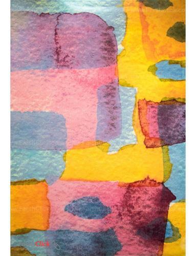 فرش مدرن فانتزی فرش ساوین -  طرح آبرنگ 1339 - 1/5 متری  چند رنگ