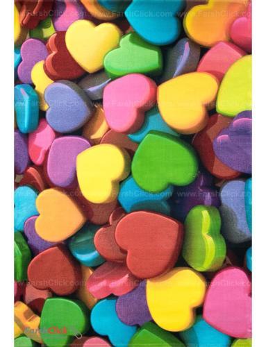 فرش مدرن فانتزی فرش ساوین -  طرح قلب 1345 - 9 متری  چند رنگ