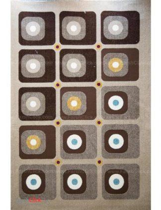فرش مدرن فانتزی فرش ساوین -  آدنا - آوا - قالیچه  شکلاتی