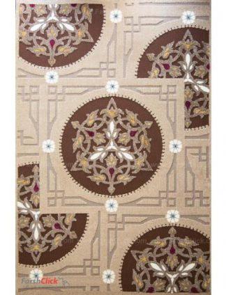 فرش مدرن فانتزی فرش ساوین -  آدنا - آویشن - 6 متری  شکلاتی