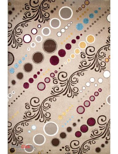 فرش مدرن فانتزی فرش ساوین -  آدنا - سیما - 9 متری  شکلاتی