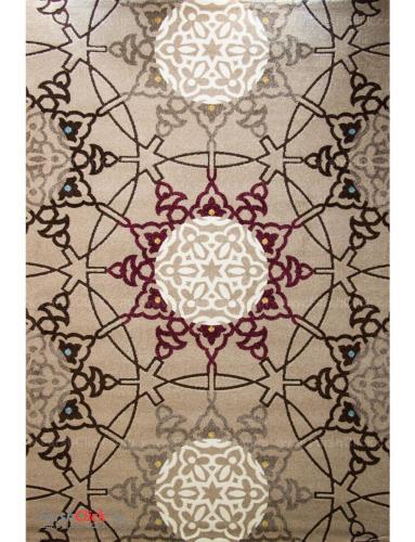 فرش مدرن فانتزی فرش ساوین -  الوند - 12 متری  شکلاتی