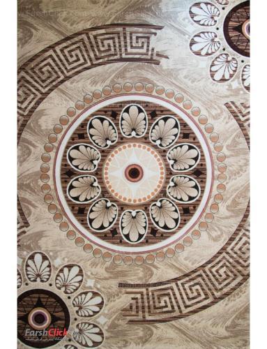 فرش مدرن فانتزی فرش ساوین -  ماهور - آتنا - 6 متری  کرم