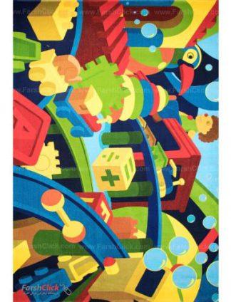 فرش کودک فرش ساوین -  لگو 1346 - 6 متری  چند رنگ
