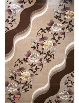 فرش مدرن فانتزی فرش ساوین -  فرنام - 1/5 متری  شکلاتی
