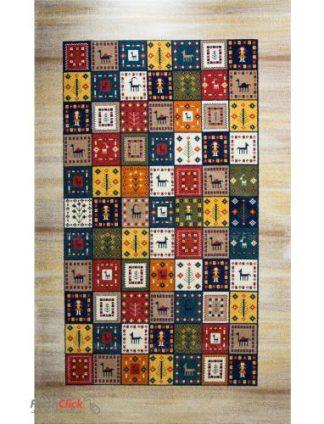 فرش مدرن فانتزی فرش ساوین -  گیتی - قالیچه  کرم