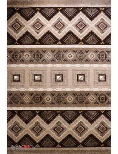 فرش مدرن فانتزی فرش ساوین -  هامون - 1/5 متری  شکلاتی