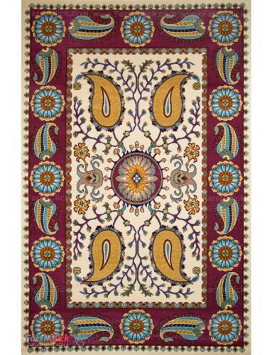 فرش مدرن فانتزی فرش ساوین -  هنگامه - قالیچه  کرم