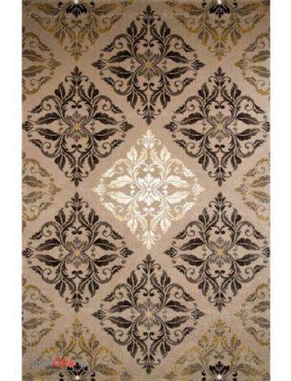 فرش مدرن فانتزی فرش ساوین -  کرانه - 1/5 متری  شکلاتی