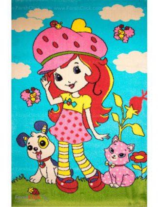 فرش کودک فرش ساوین -  کیتی 1183 - 6 متری  چند رنگ