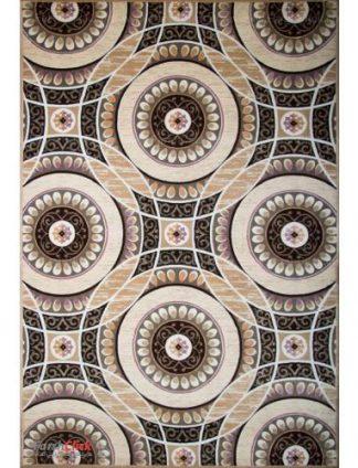 فرش مدرن فانتزی فرش ساوین -  ماهور - باربد - 6 متری  شکلاتی