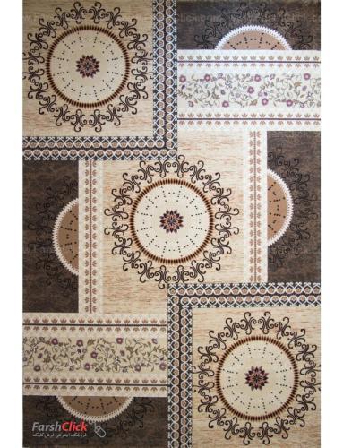 فرش مدرن فانتزی فرش ساوین -  ماهور - خورشید - 1/5 متری  کرم
