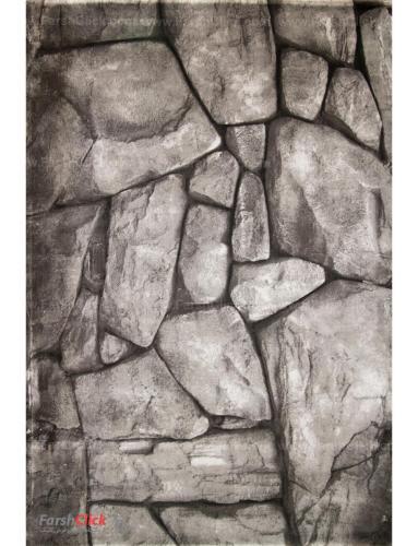 فرش مدرن فانتزی فرش ساوین -  طرح صخره 1310 - قالیچه  چند رنگ