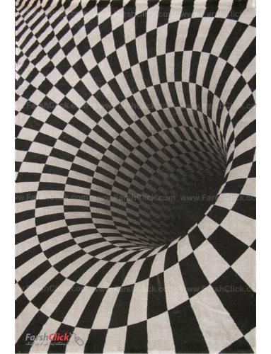 فرش مدرن فانتزی فرش ساوین -  طرح سیاهچاله - 1311 - قالیچه  چند رنگ