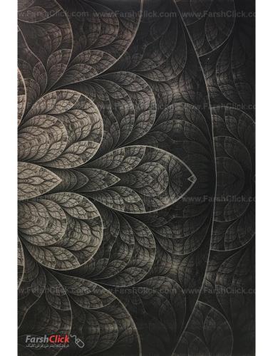 فرش مدرن فانتزی فرش ساوین -  طرح گلبرگ - 1314 - قالیچه  چند رنگ