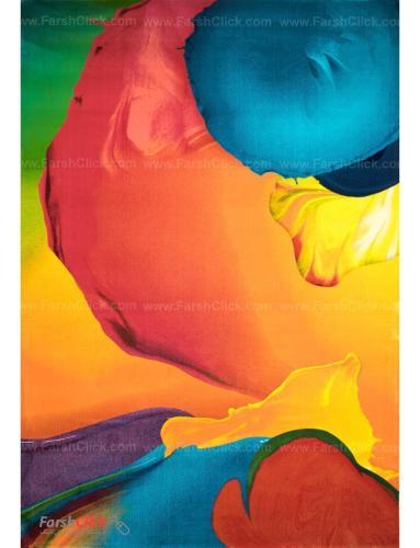فرش مدرن فانتزی فرش ساوین -  طرح اسپلش - 1331 - 9 متری  چند رنگ