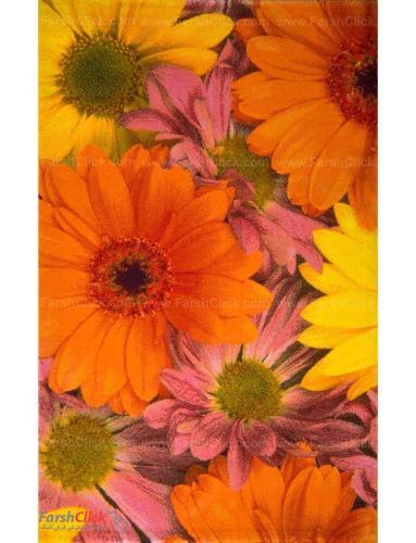 فرش مدرن فانتزی فرش ساوین -  طرح گلسار - 1332 - 6 متری  چند رنگ