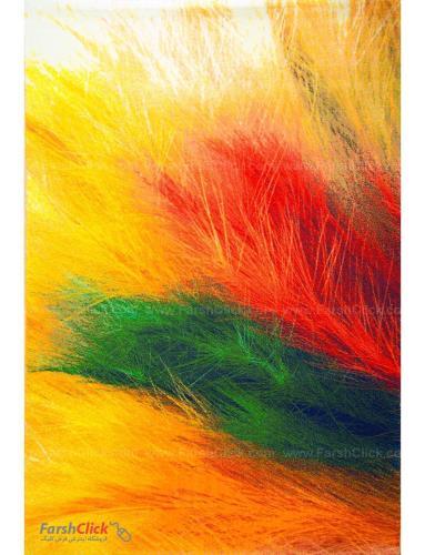 فرش مدرن فانتزی فرش ساوین -  پرهای رنگی - 1333- 6 متری  چند رنگ