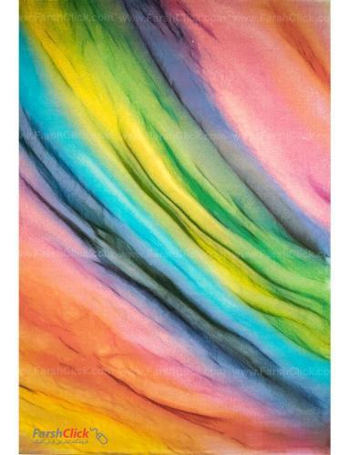 فرش مدرن فانتزی فرش ساوین -  رنگین کمان - 1335 - 1/5 متری  چند رنگ