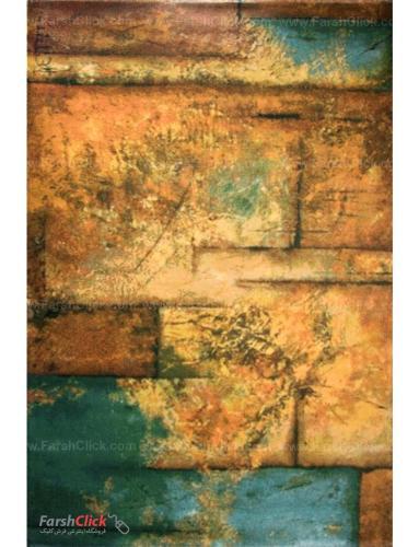 فرش مدرن فانتزی فرش ساوین -  طرح گاردن - 1348 - قالیچه  چند رنگ