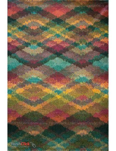 فرش مدرن فانتزی فرش ساوین -  طرح شارپ - 1350- 6 متری  چند رنگ