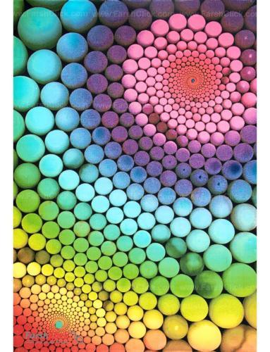 فرش مدرن فانتزی فرش ساوین -  مارپیچ 1351 - 1/5 متری  چند رنگ