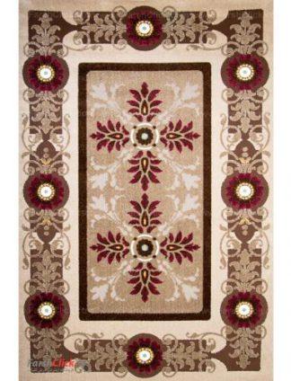 فرش مدرن فانتزی فرش ساوین -  ارغنون - 6 متری  شکلاتی