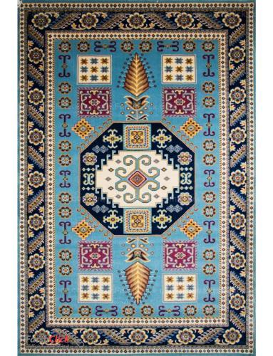 فرش مدرن فانتزی فرش ساوین -  اورنگ - 1/5 متری  آبی