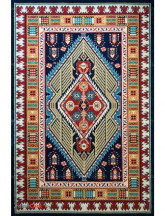فرش مدرن فانتزی فرش ساوین -  پازیریک - آرتا - قالیچه  سرمه ای