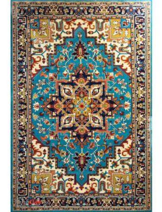 فرش مدرن فانتزی فرش ساوین -  پازیریک - هریس - 12 متری  آبی