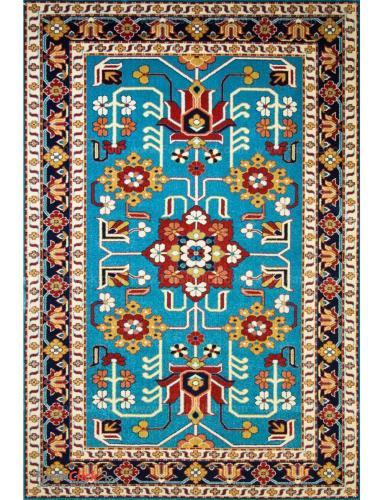 فرش مدرن فانتزی فرش ساوین -  پازیریک - مهربان - 12 متری  آبی