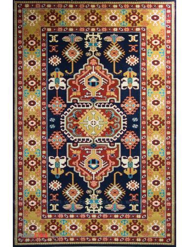 فرش مدرن فانتزی فرش ساوین -  پازیریک - طوبی - 12 متری  سرمه ای