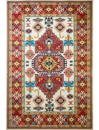 فرش مدرن فانتزی فرش ساوین -  پازیریک - طوبی - 9 متری  کرم