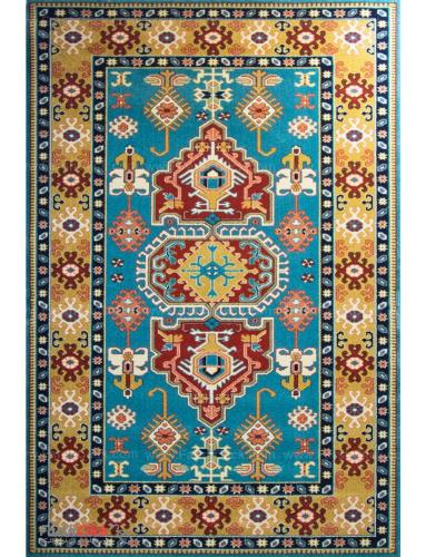 فرش مدرن فانتزی فرش ساوین -  پازیریک - طوبی - 9 متری  آبی