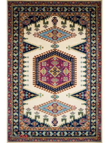 فرش مدرن فانتزی فرش ساوین -  پژواک - 9 متری  کرم