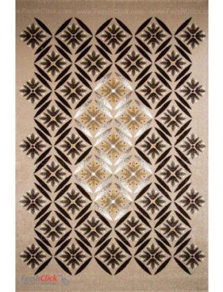 فرش مدرن فانتزی فرش ساوین -  رایان - 12 متری  شکلاتی