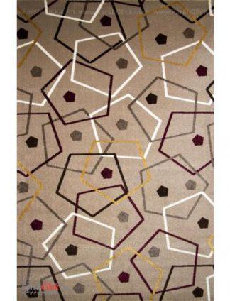 فرش مدرن فانتزی فرش ساوین -  صدف - بیتا - 12 متری  شکلاتی