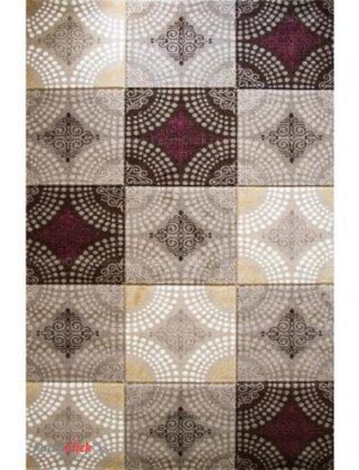 فرش مدرن فانتزی فرش ساوین -  صدف - گلاره - 12 متری  شکلاتی