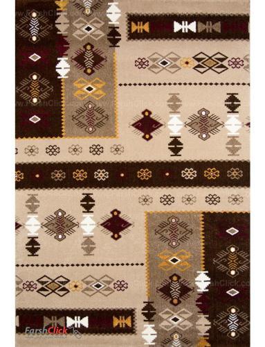 فرش مدرن فانتزی فرش ساوین -  صدف - پونه - 9 متری  شکلاتی