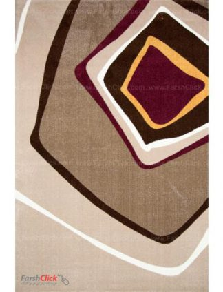 فرش مدرن فانتزی فرش ساوین -  صدف - وارش - 12 متری  شکلاتی