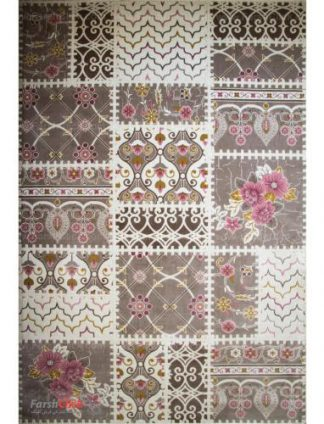 فرش مدرن فانتزی فرش ساوین -  ساوین مد 1501 - 9 متری  صورتی