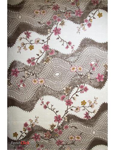 فرش مدرن فانتزی فرش ساوین -  ساوین مد 1503 - 1/5 متری  صورتی
