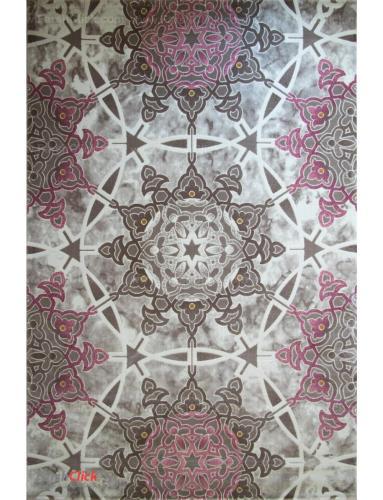 فرش مدرن فانتزی فرش ساوین -  ساوین مد 1509 - 1/5 متری  صورتی