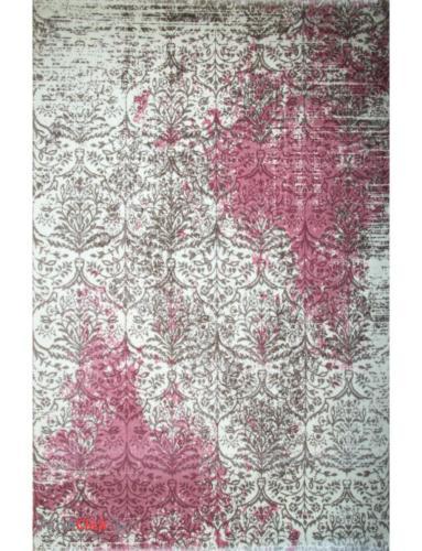 فرش مدرن فانتزی فرش ساوین -  ساوین مد 1514 - 1/5 متری  صورتی