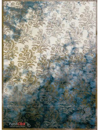 فرش مدرن فانتزی فرش ساوین -  ساوین مد 1516 - قالیچه  آبی